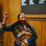 North Dakota Democrat Ruth Buffalo takes oath in traditional regalia!
