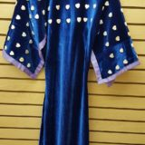 NICE HOMEMADE BLUE VELVET 118 ABALONE HEARTS NATIVE AMERICAN INDIAN DANCE DRESS – eBay find of the week