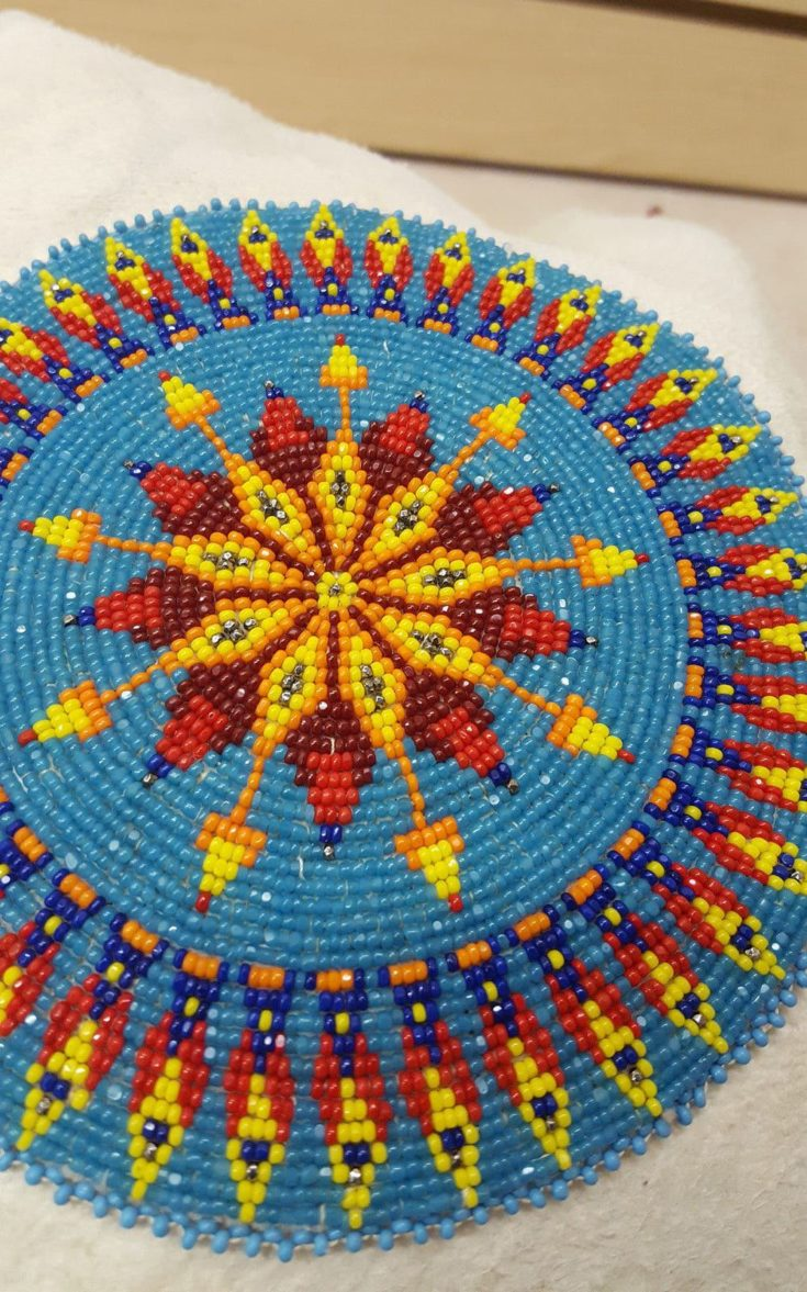 how to make a beaded rosette medallion