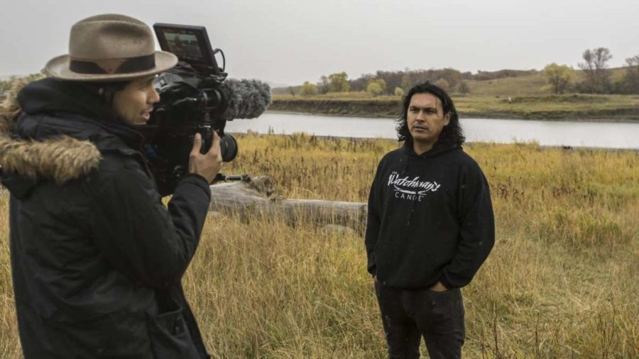 Kyle Bell behind the lens with Adam Beach