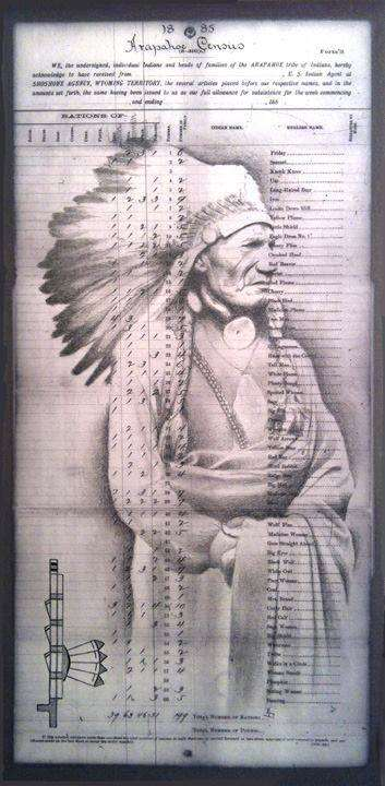 """Red Pipe"" is one of Robert Martinez' series depicting notable Arapaho leaders!"